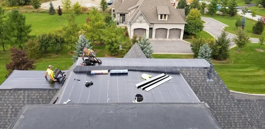EPMD single membrane flat roofing Oshawa