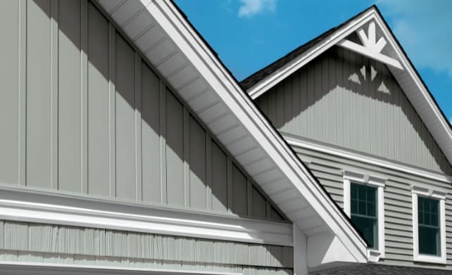 An example of board and batten siding repair