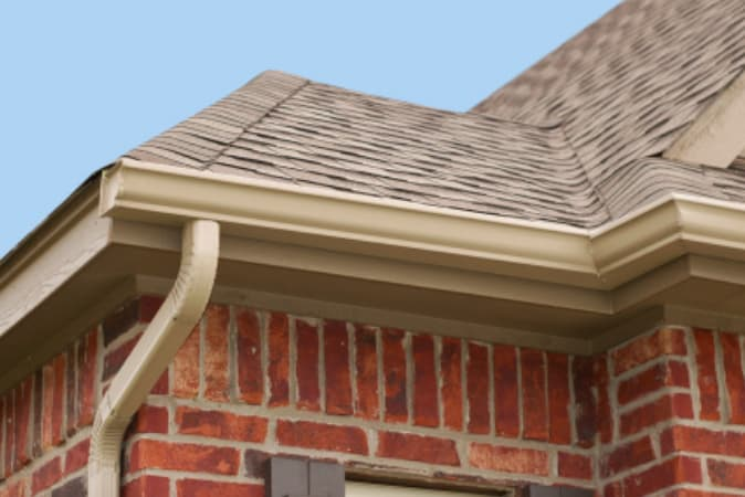 Home with a potential need for eavestrough repair