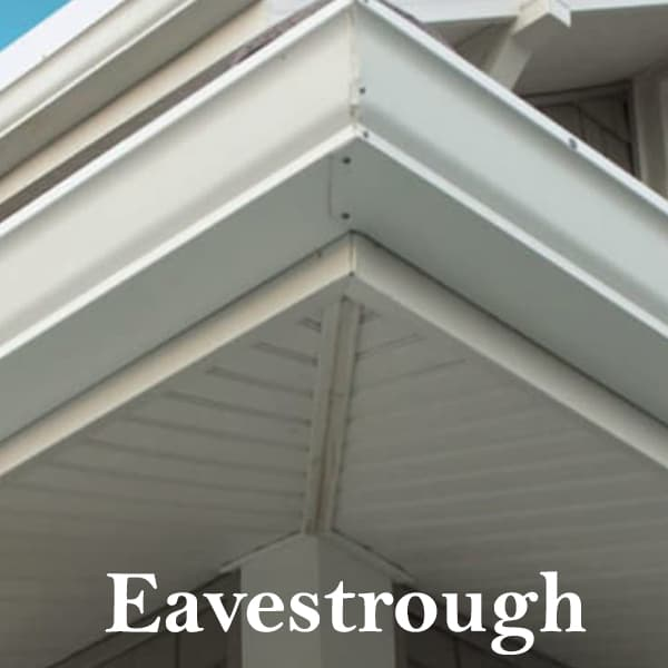 An eavestrough after repair services