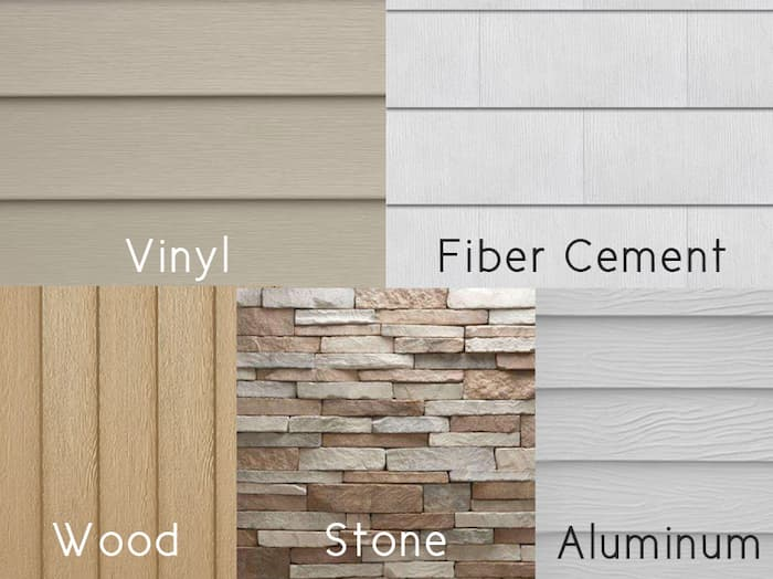 Choose between the different siding installation material options