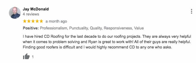 An Ajax roofing review as social proof of a quality roofing contractor