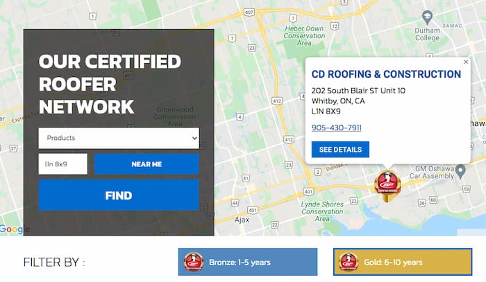 BP Certified Gold Installer qualifies us as the best roofing company in Ajax
