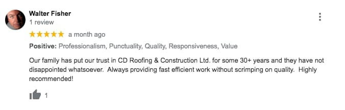 pickering roofing review