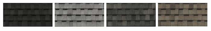 4 of 16 colours available for the vanguard shingle from BP